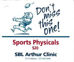 Sports Physicals at SBL in Arthur