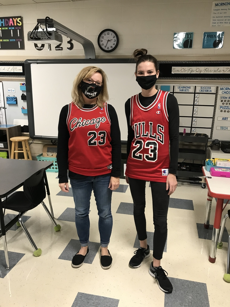 "Mrs. McGill and Miss Ponstein are ""teaming up against drugs"" for Red Ribbon Week!"