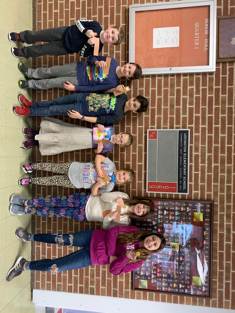 Congratulations to these students who found a chocolate coin today!!
