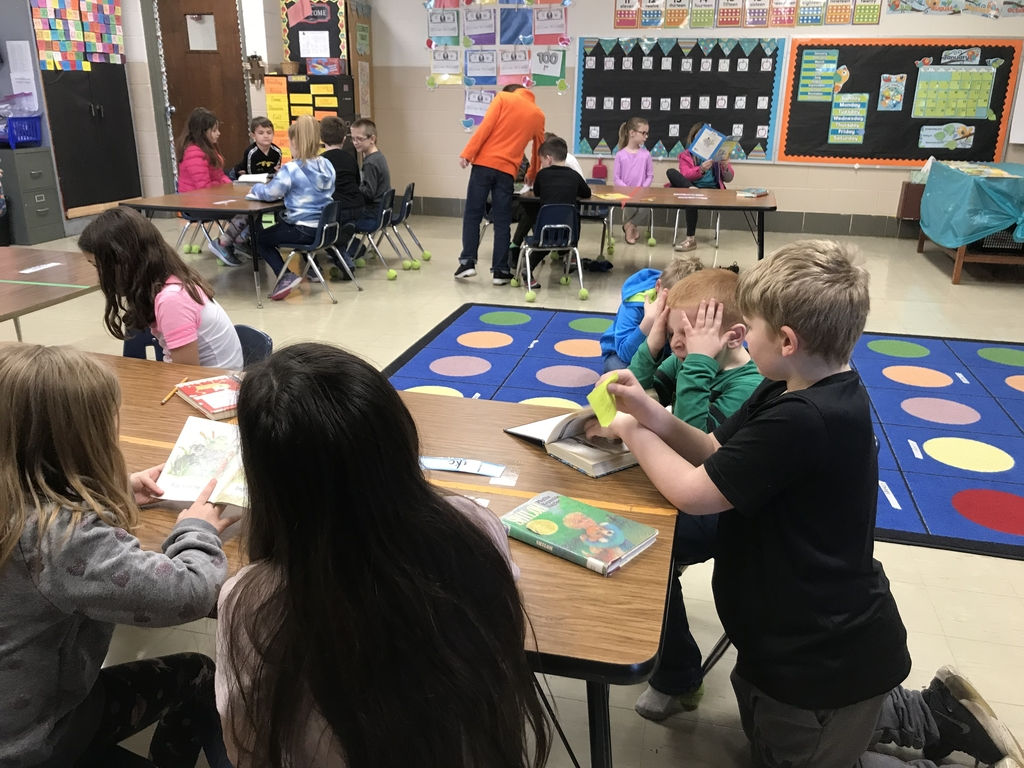 4th grade reads with Kindergarten