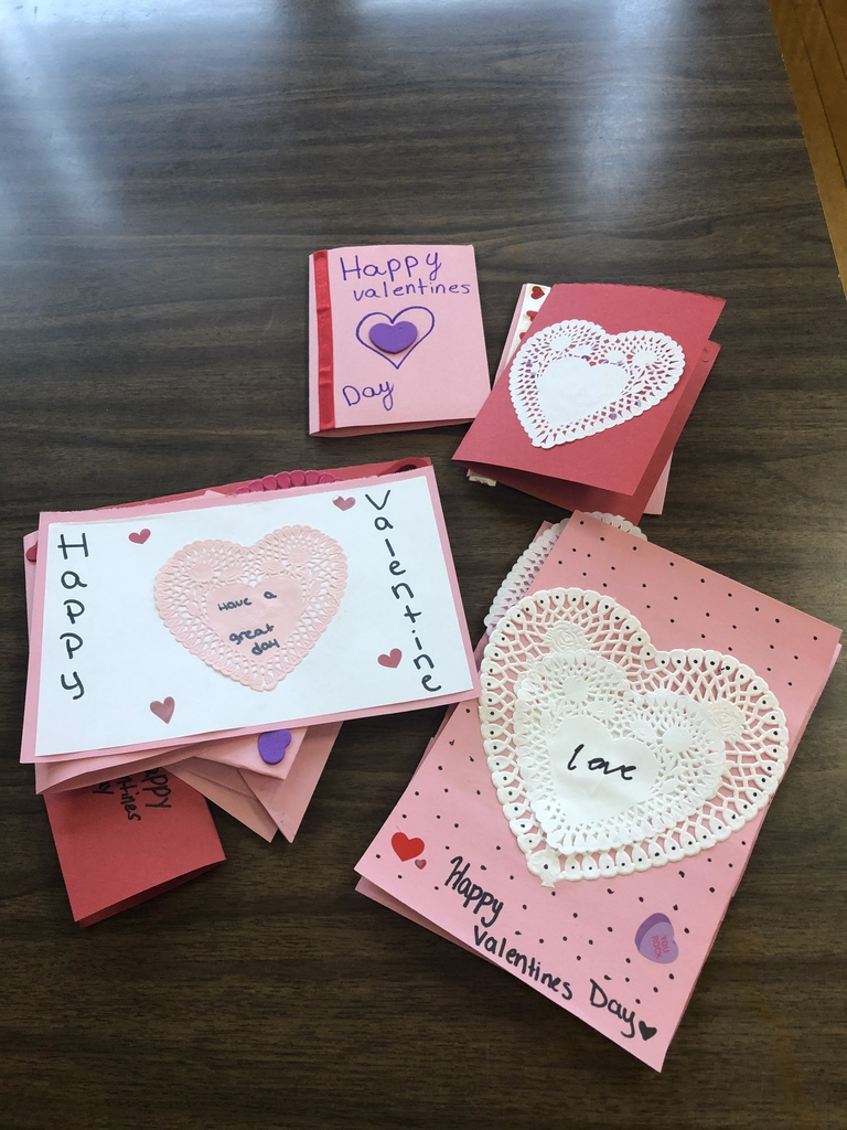 100+ Valentine's were made in the FACS classroom today