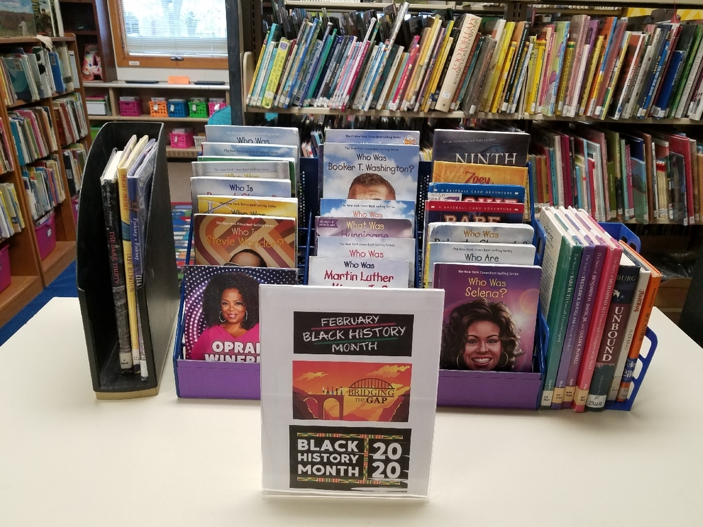 "Just a few of the books on display for celebrating""Black History Month"""