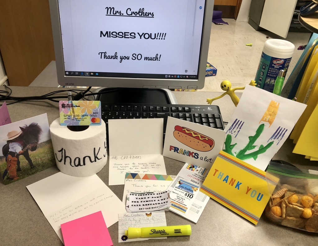 Thank you so much to the  parents who organized this generous gift. The handwritten notes were truly heartwarming! Wishing you all a great summer!
